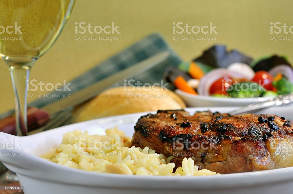 Delicious Grilled Pork Chop royalty-free stock photo