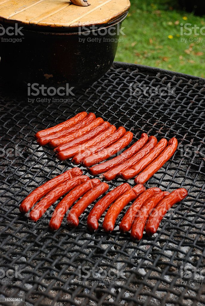 Delicious Grilled Sausage royalty-free stock photo