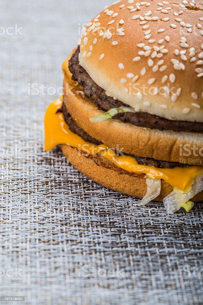 delicious hambuers stock photo
