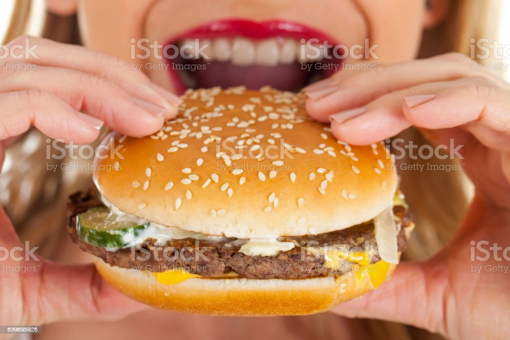 Delicious hamburger stock photo