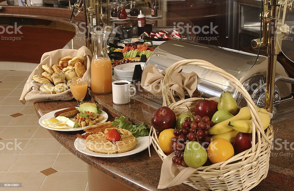 Delicious healthy breakfast buffet royalty-free stock photo