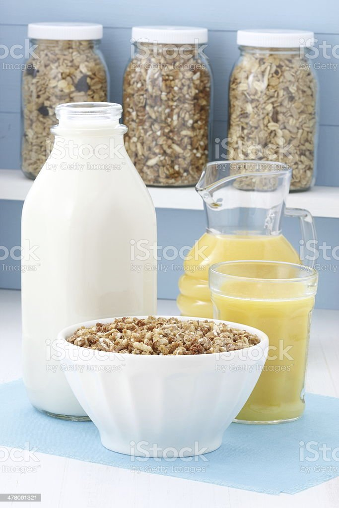 Delicious healthy cereal breakfast royalty-free stock photo