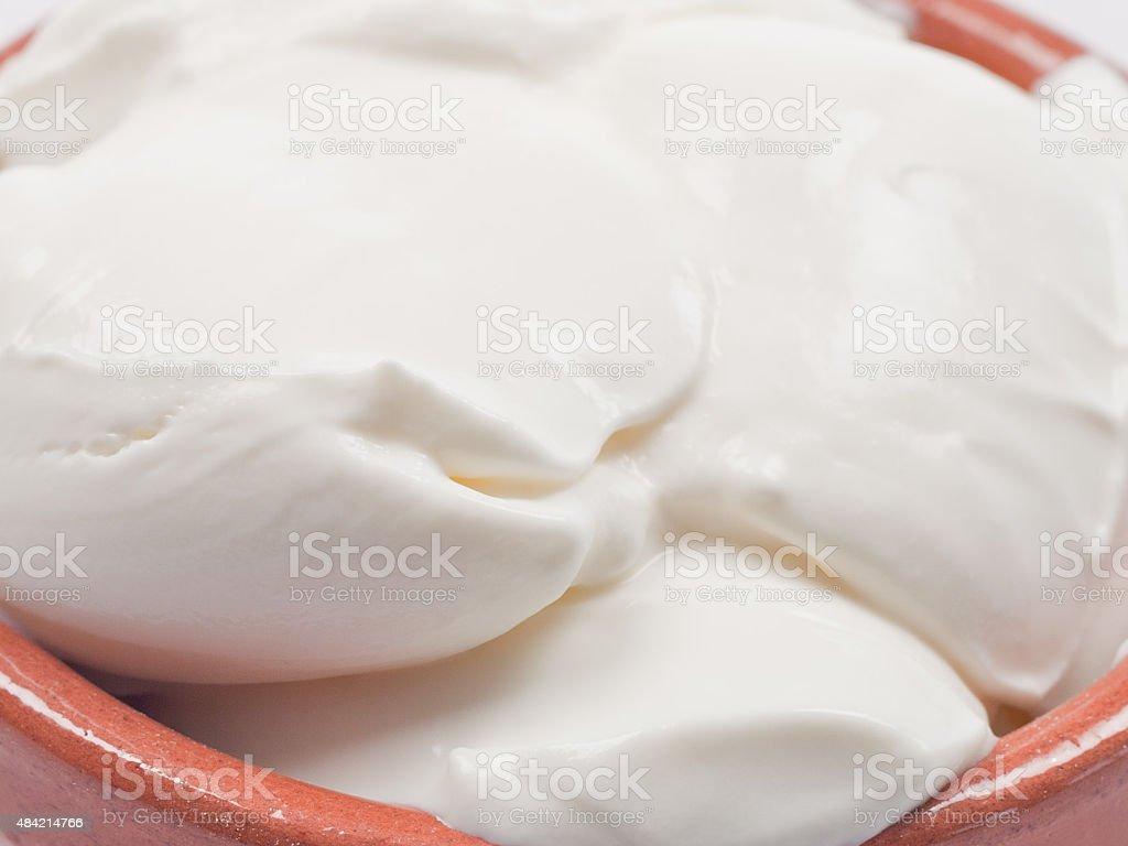 Delicious healthy nutritious yoghurt stock photo