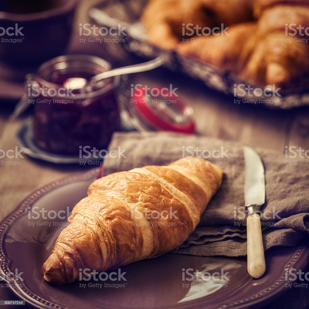 Delicious Homemade Butter Croissants stock photo