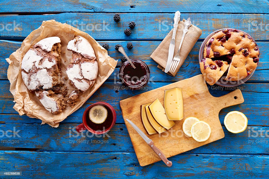 Delicious homemade food stock photo
