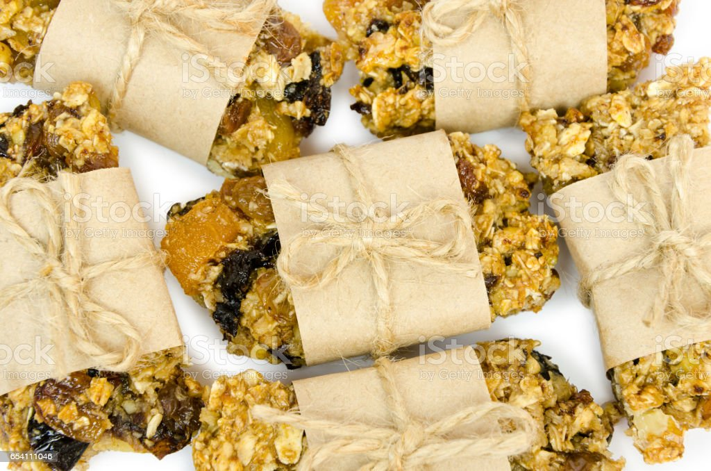 delicious homemade pastries. Granola with organic inhibitors. stock photo
