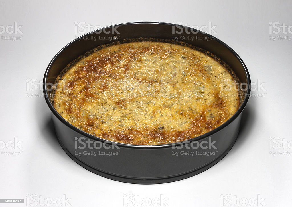 Delicious homemade vegetable pie with cheese royalty-free stock photo