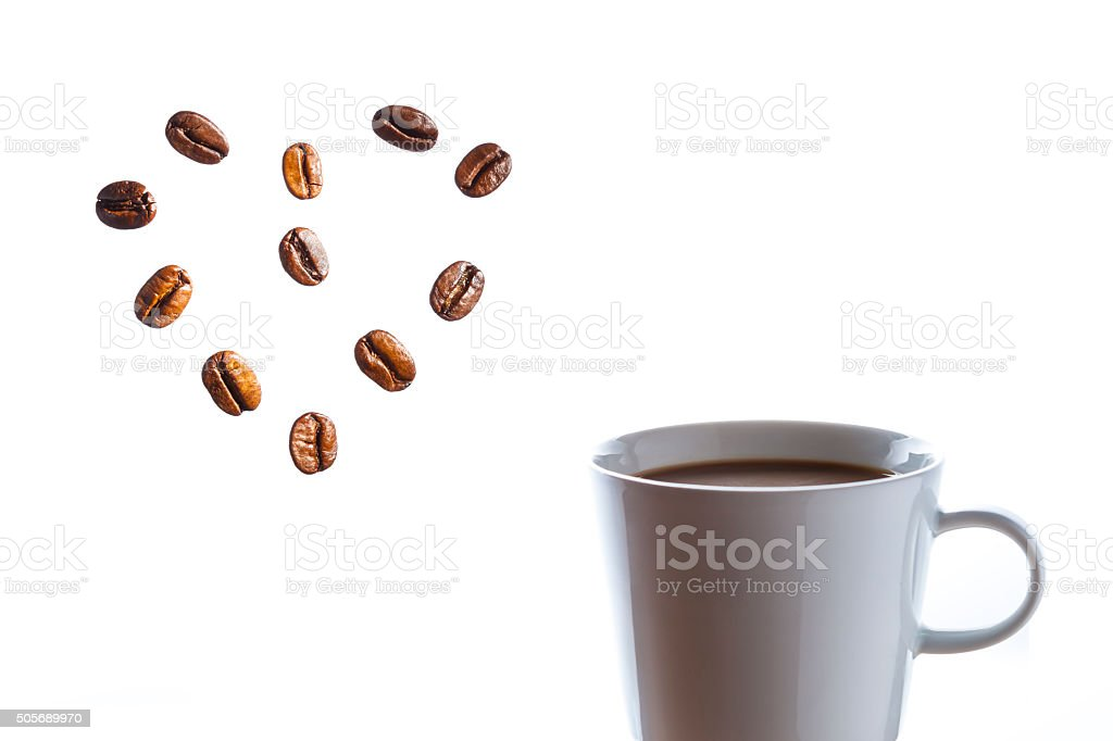 delicious hot coffee still life stock photo
