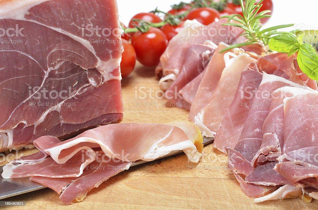 Delicious Italian ham royalty-free stock photo