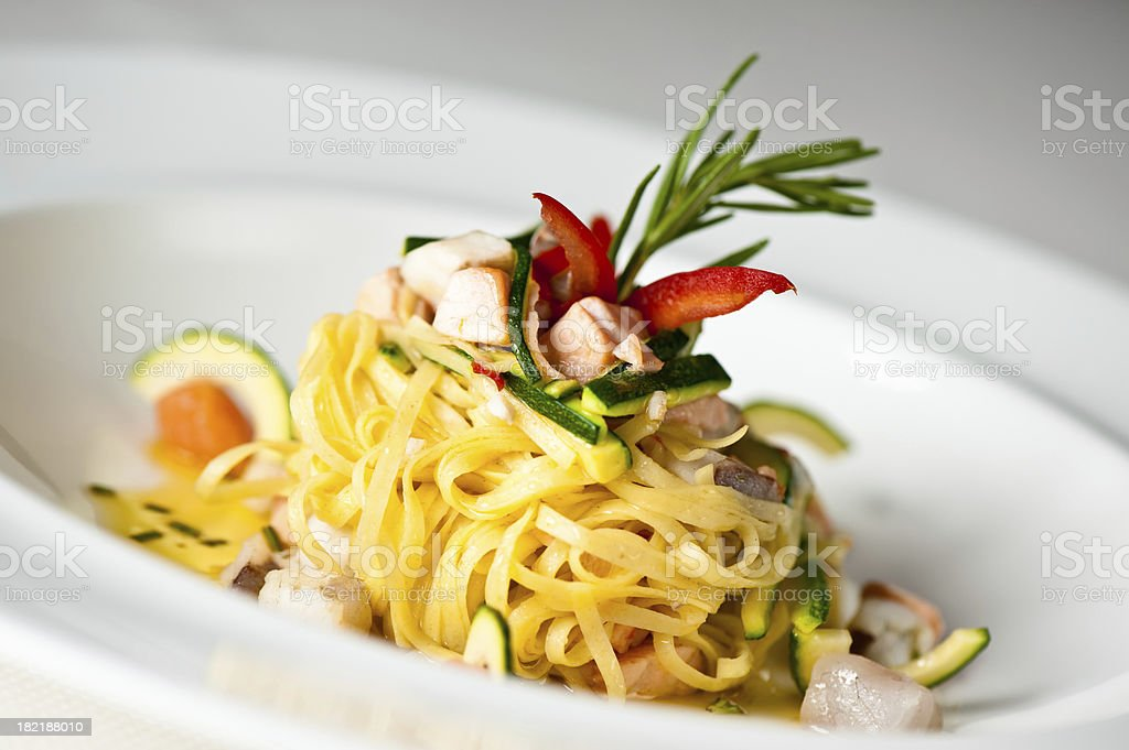 Delicious italian pasta royalty-free stock photo