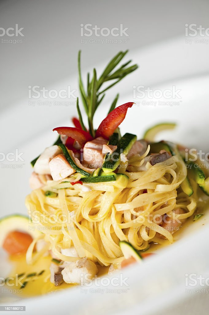 Delicious italian pasta royalty-free stock photo