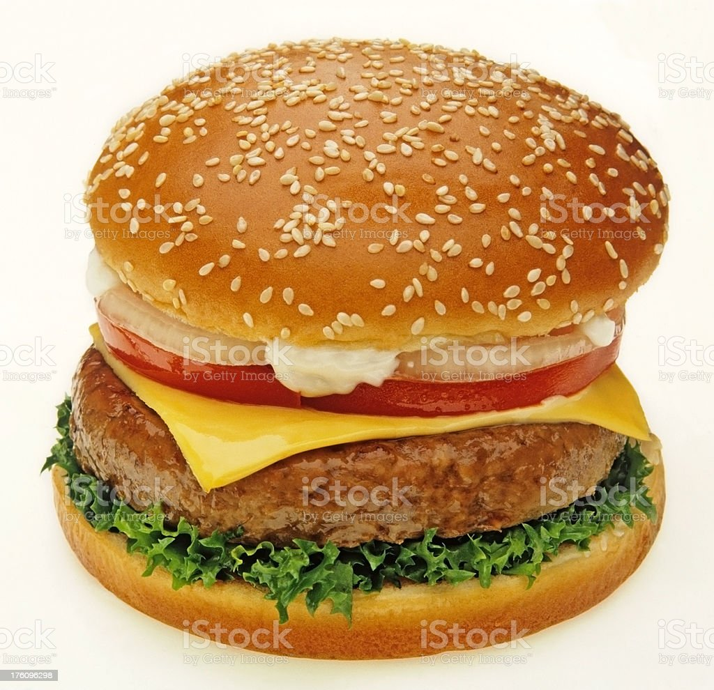 delicious juicy burger royalty-free stock photo