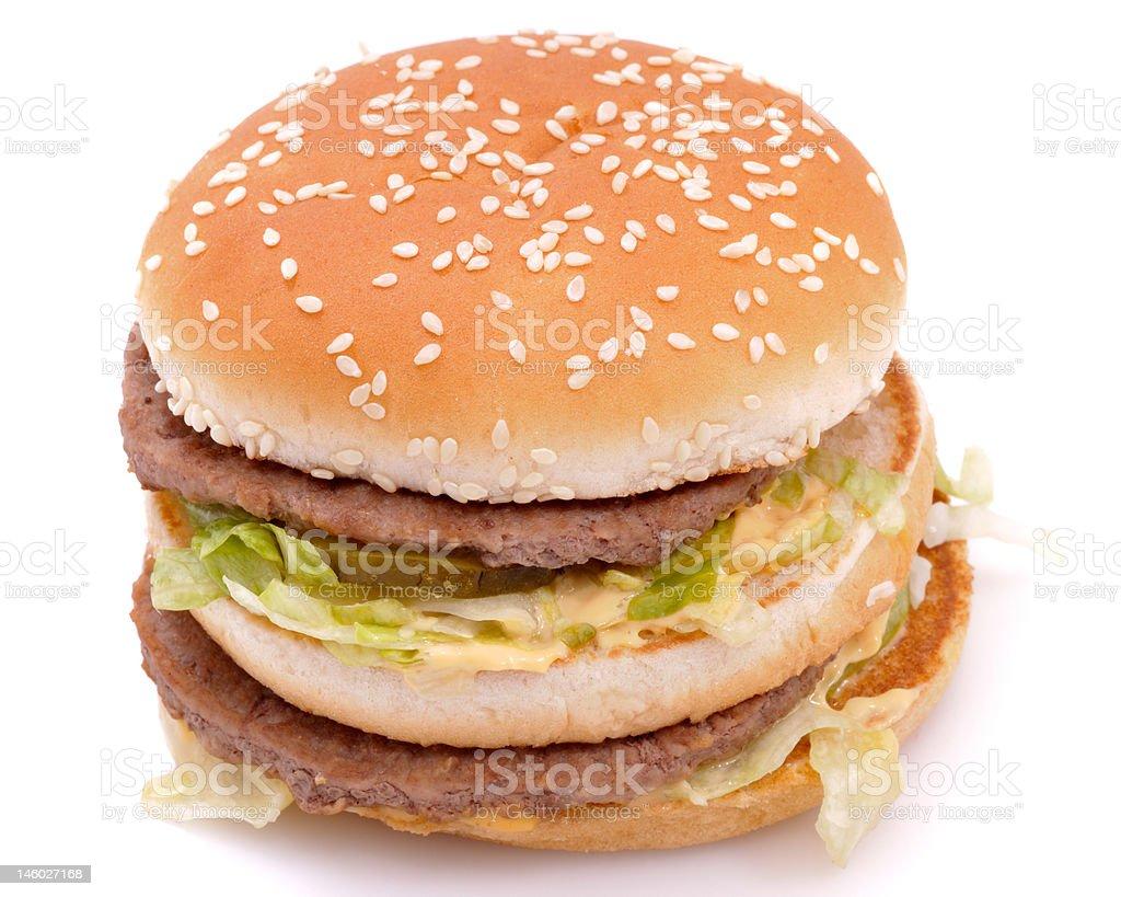 Delicious juicy cheeseburger/hamburger royalty-free stock photo
