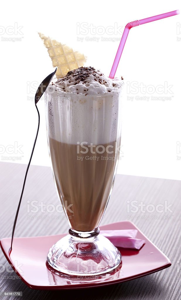 Delicious Latté Coffee with cream royalty-free stock photo