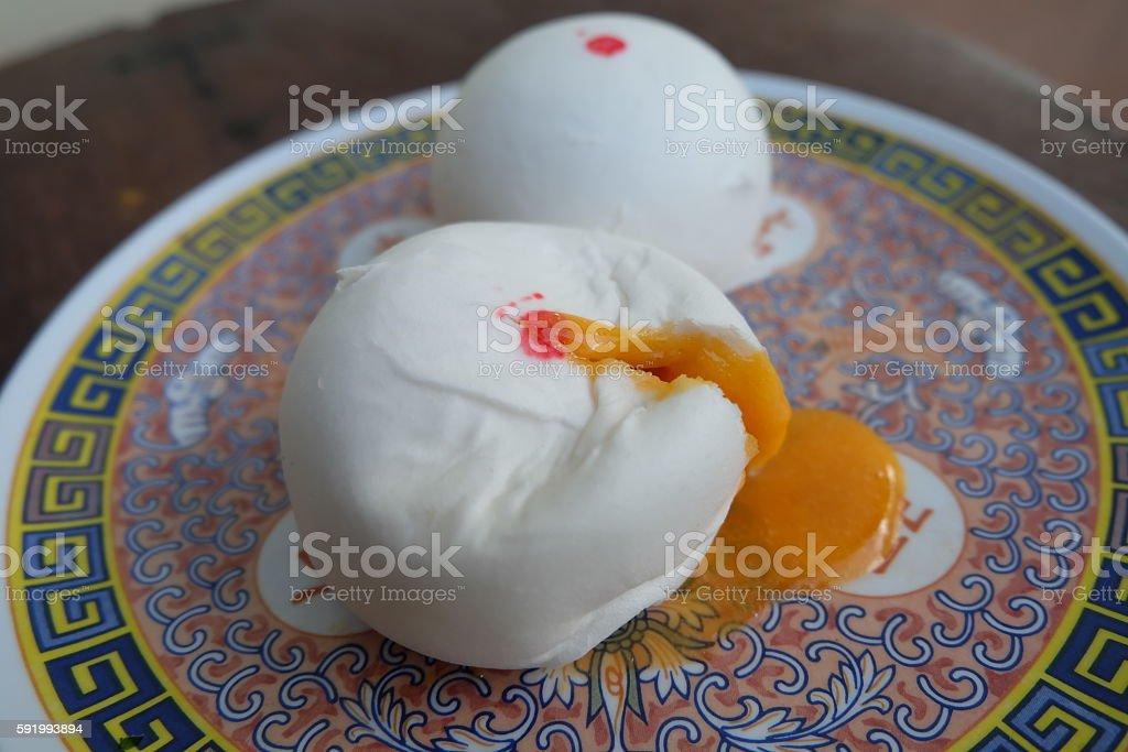 delicious lava bun dumpling stock photo