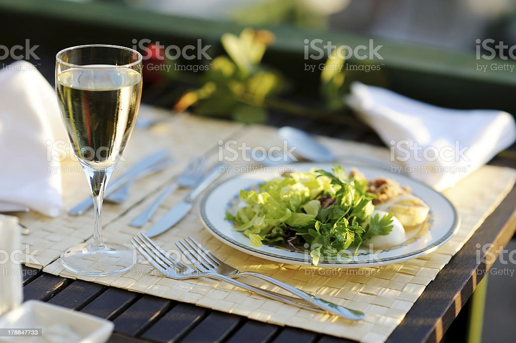 Delicious lettuce plate royalty-free stock photo