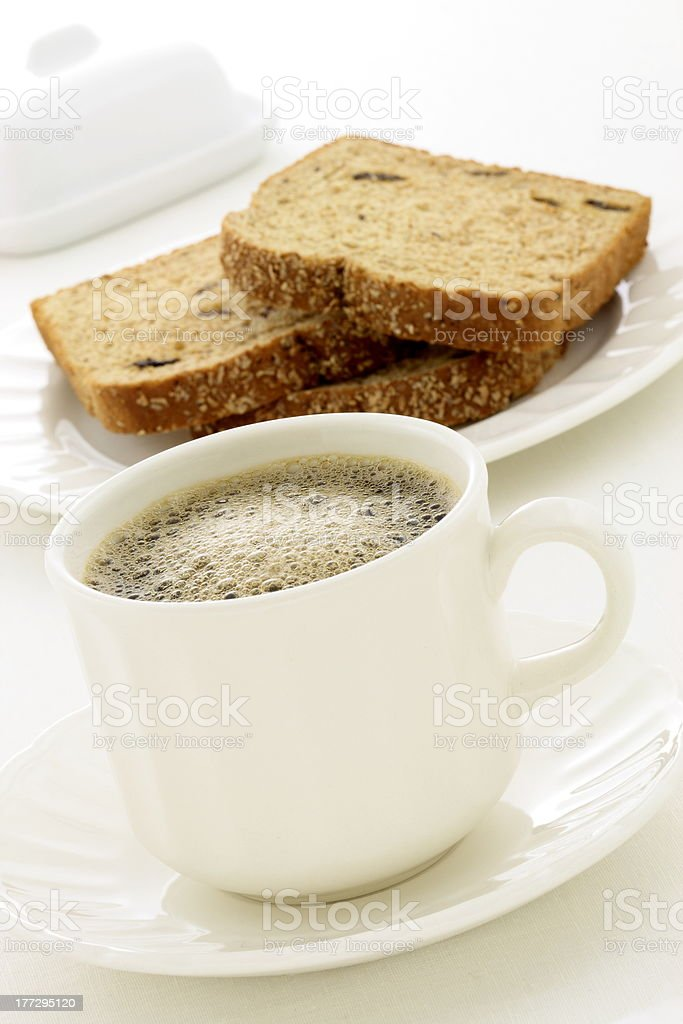 delicious light fresh breakfast royalty-free stock photo