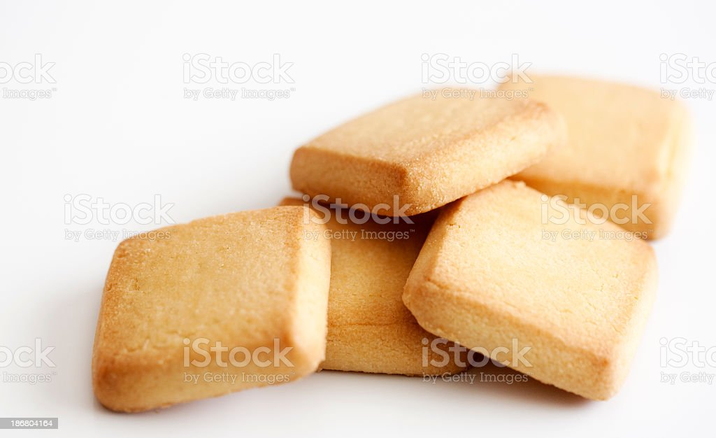 Delicious looking shortbread biscuits royalty-free stock photo