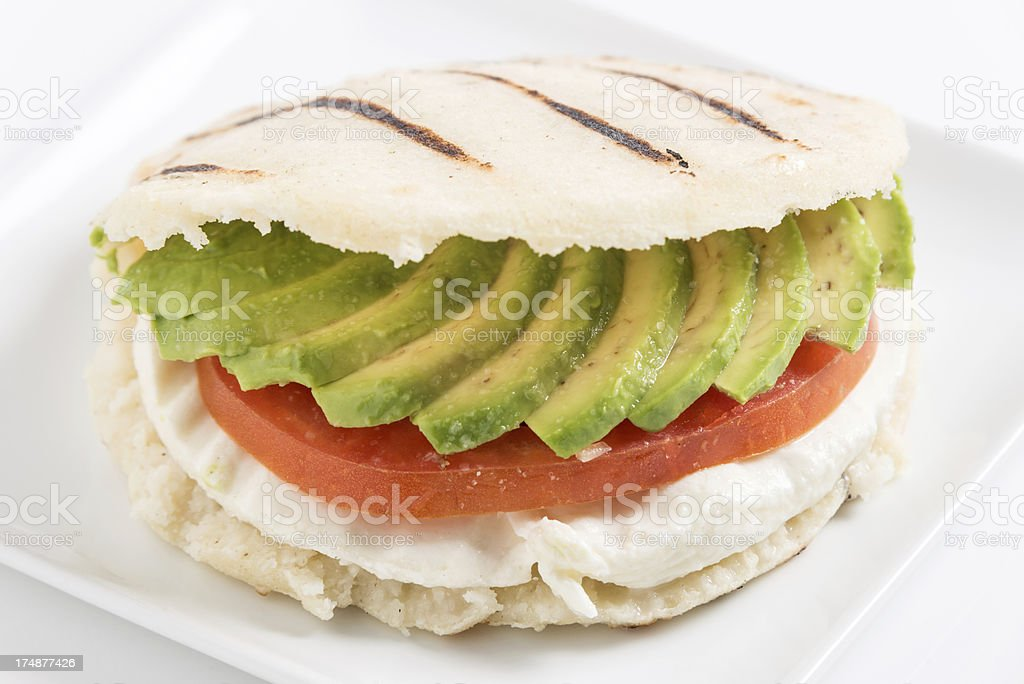 A Delicious Looking Vegetarian Arepa royalty-free stock photo