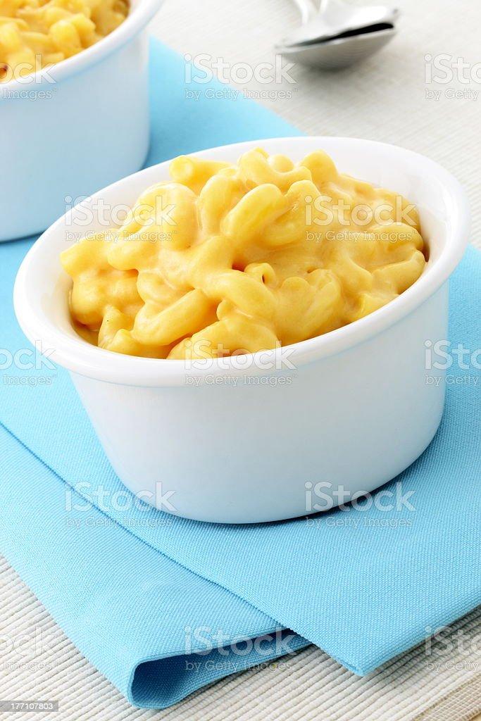 Delicious macaroni and cheese stock photo