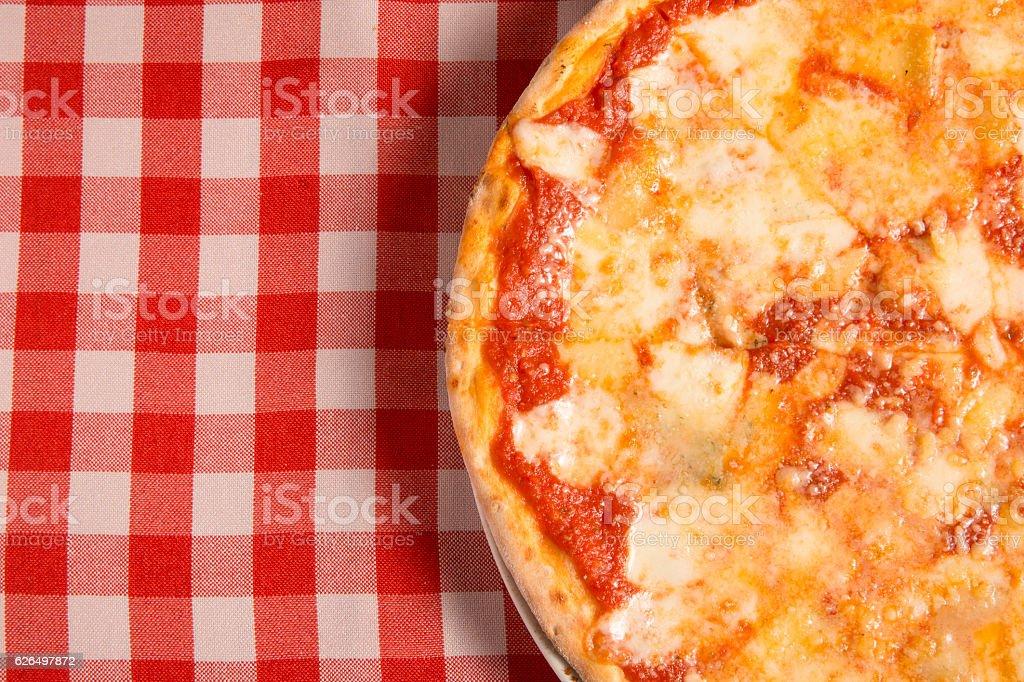 delicious margarita pizza stock photo
