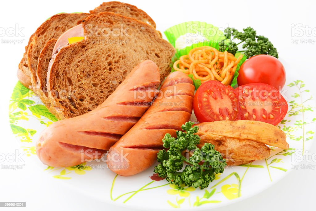 Delicious meals stock photo