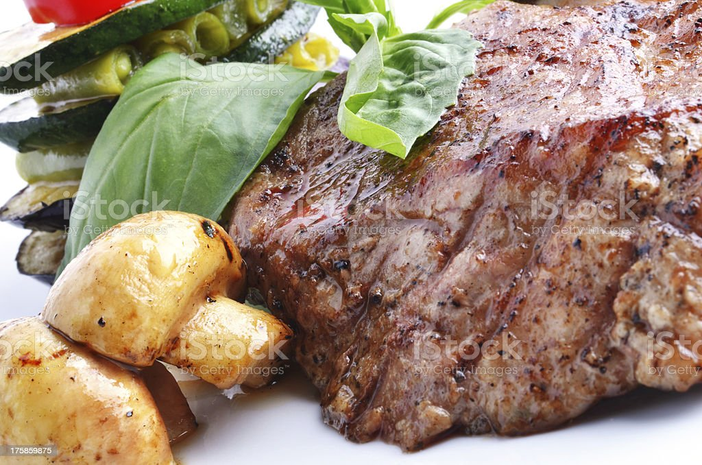 Delicious meat and vegetables royalty-free stock photo