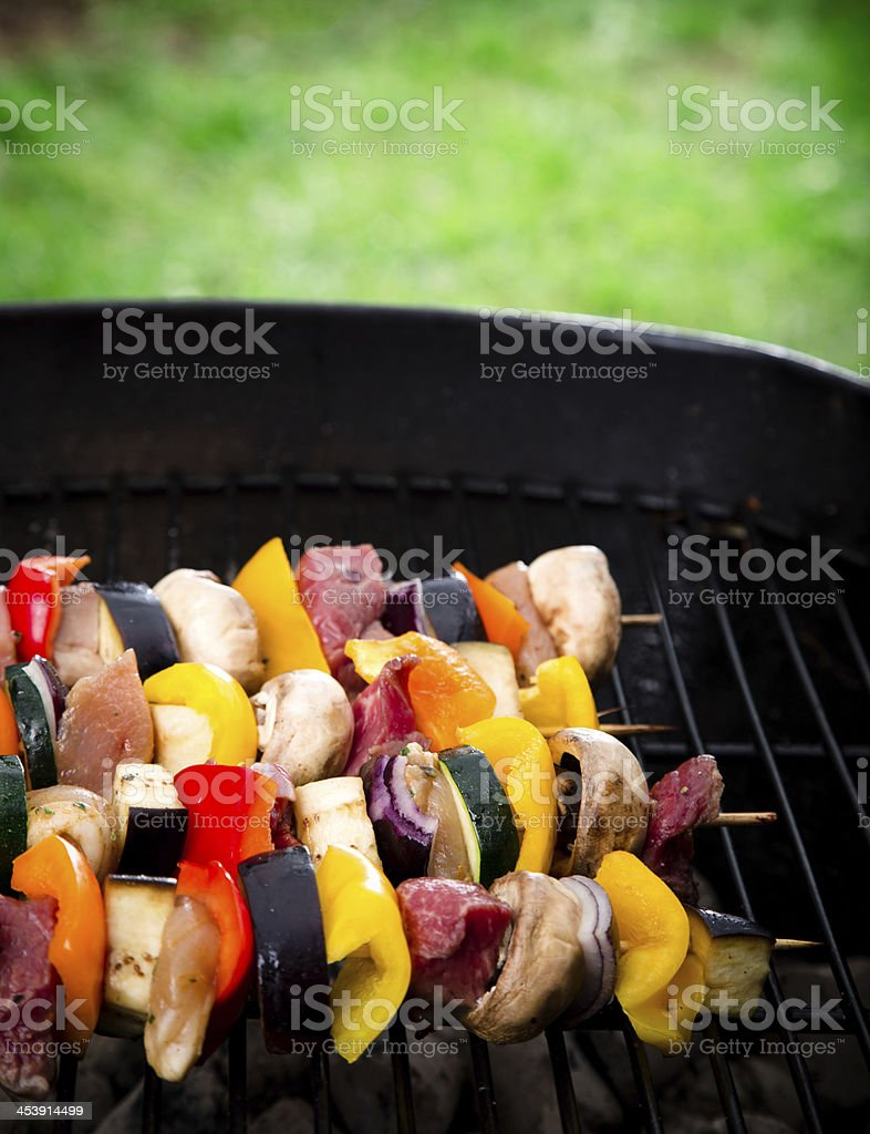 Delicious Meat spits royalty-free stock photo