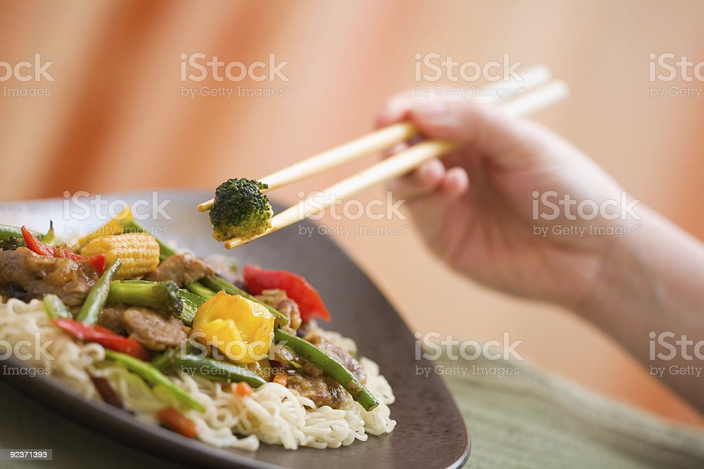 Delicious meat wok royalty-free stock photo