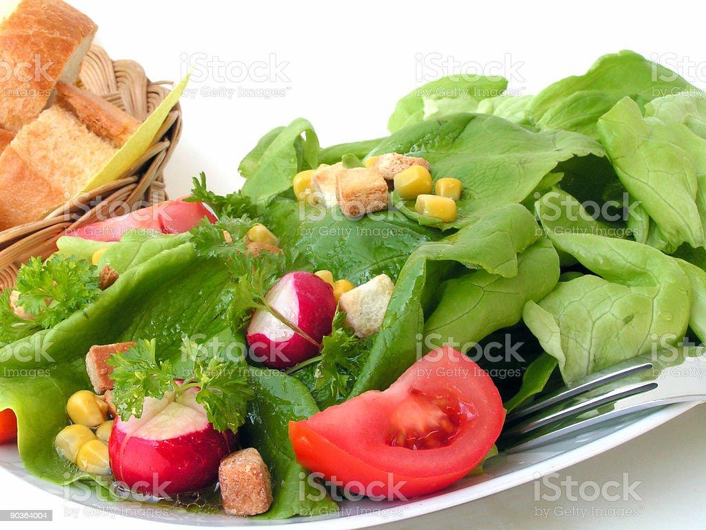 delicious mixed summer salad stock photo