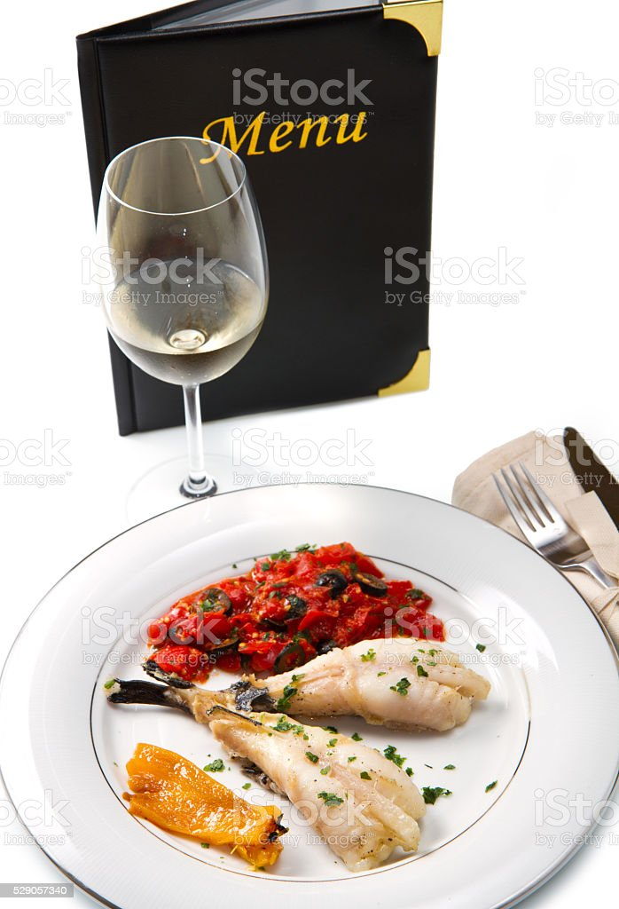 delicious monkfish stock photo
