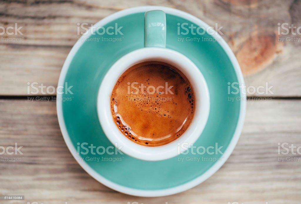Delicious morning espresso coffee stock photo