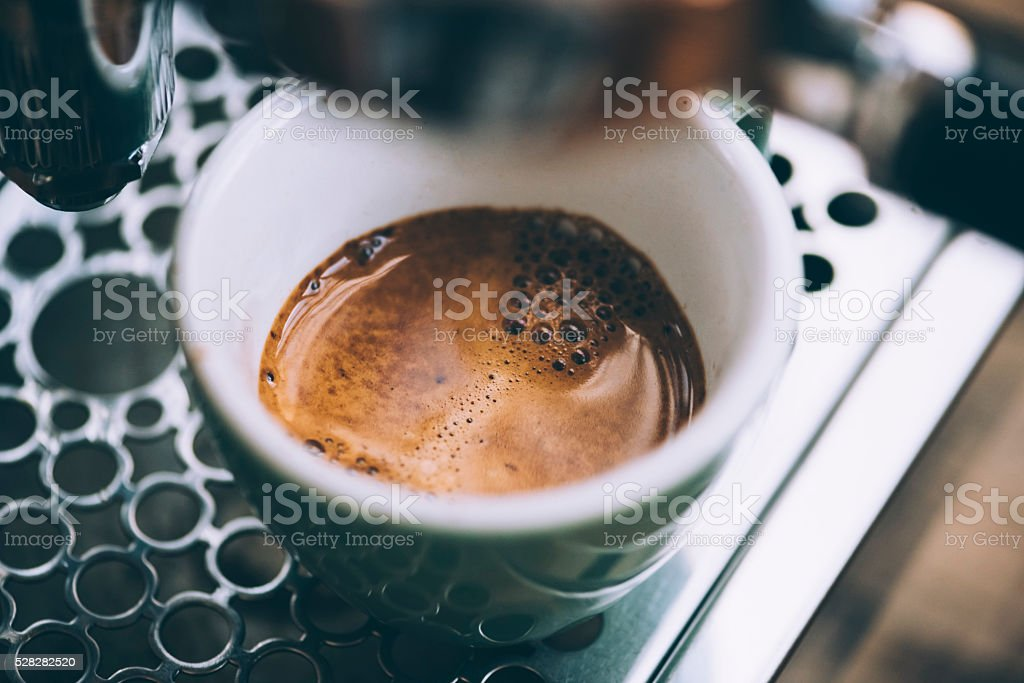 Delicious morning fresh coffee stock photo