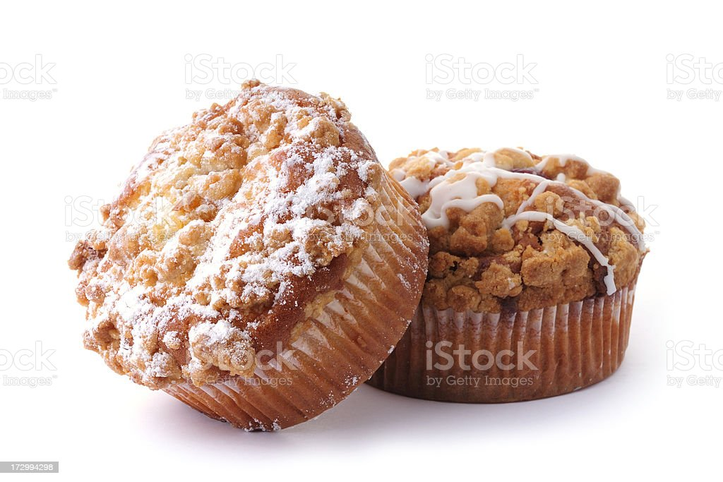 delicious muffins on white royalty-free stock photo