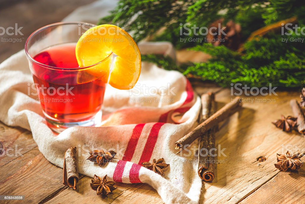Delicious mulled wine stock photo