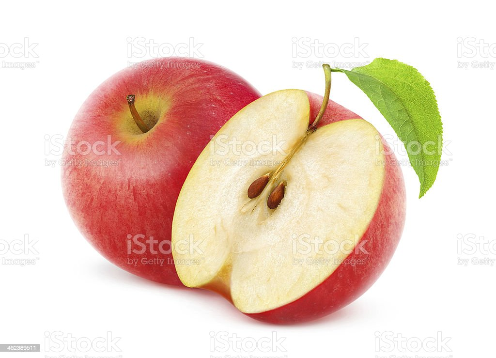 Delicious nutritious red apples stock photo