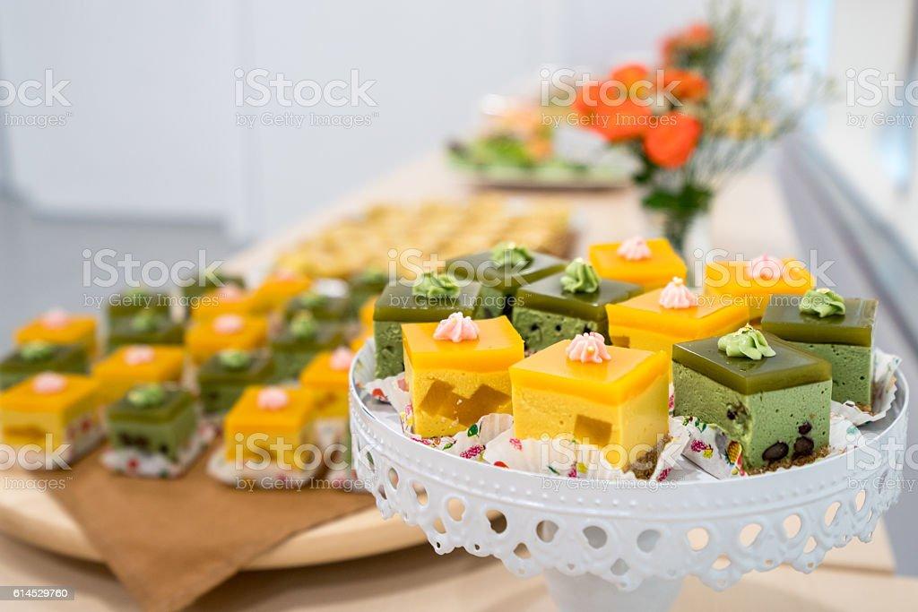 Delicious party desserts stock photo