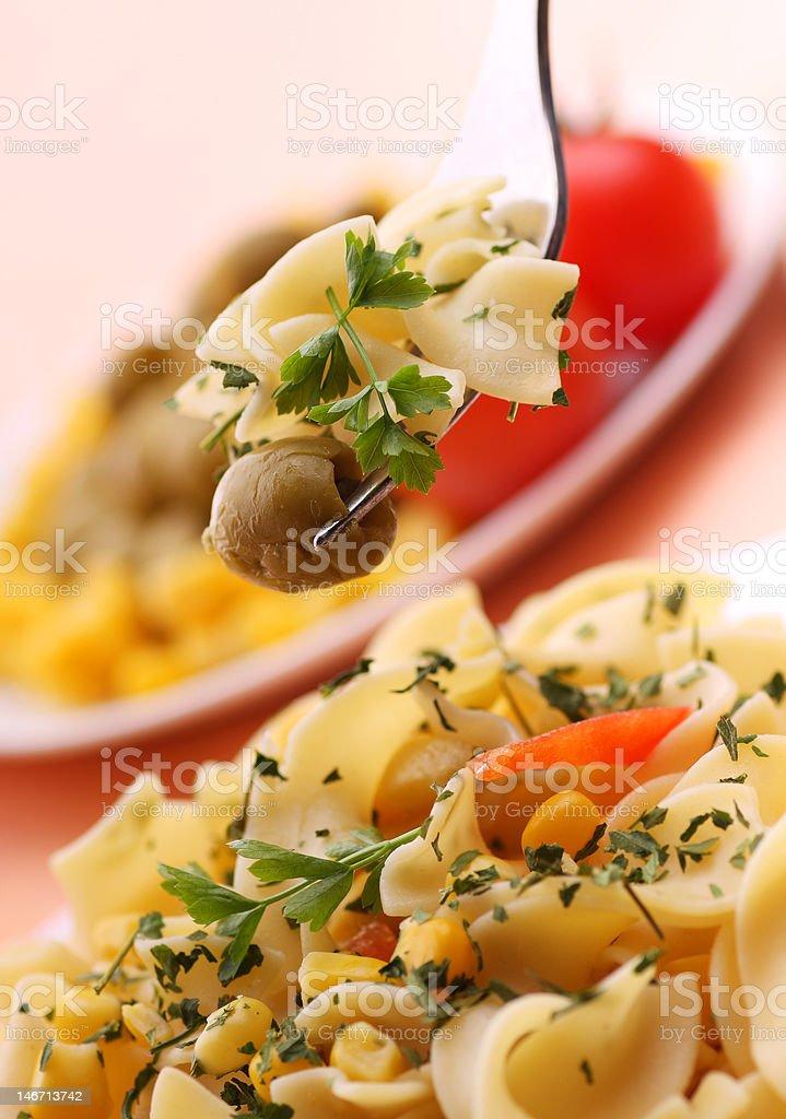 Delicious pasta dish royalty-free stock photo