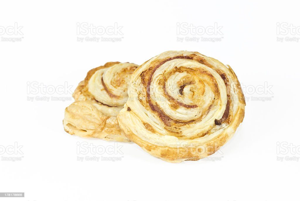 Delicious pastry isolated on white royalty-free stock photo