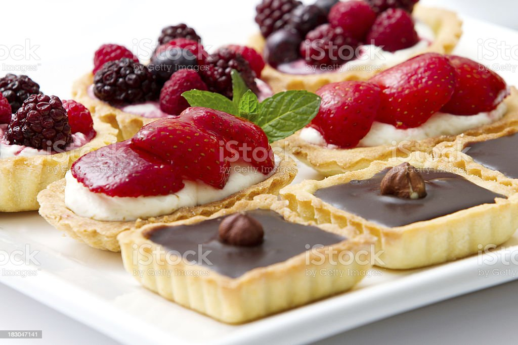 Delicious pies and pastries royalty-free stock photo