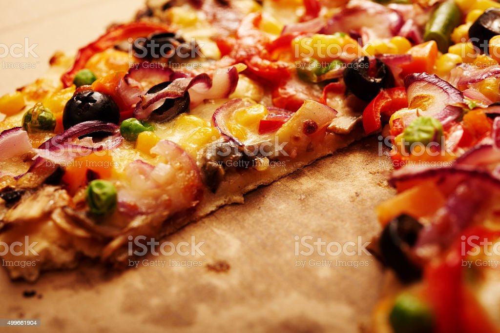 delicious pizza background stock photo