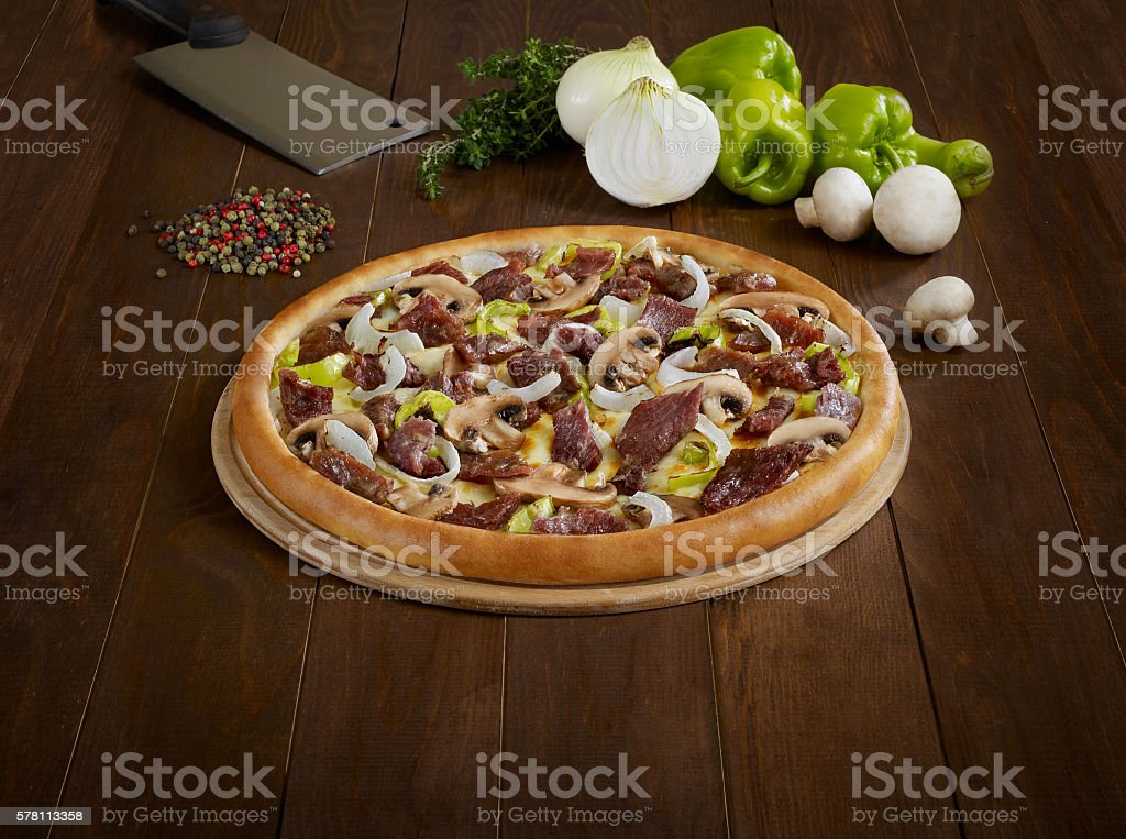 Delicious pizza stock photo