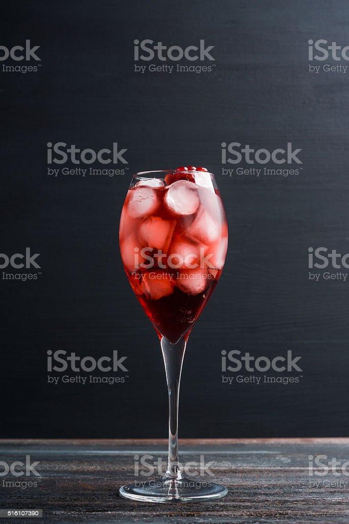 Delicious pomegranate cocktail stock photo