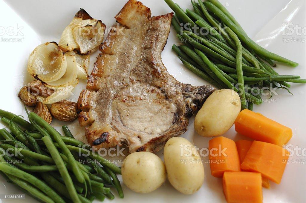 Delicious pork dinner stock photo