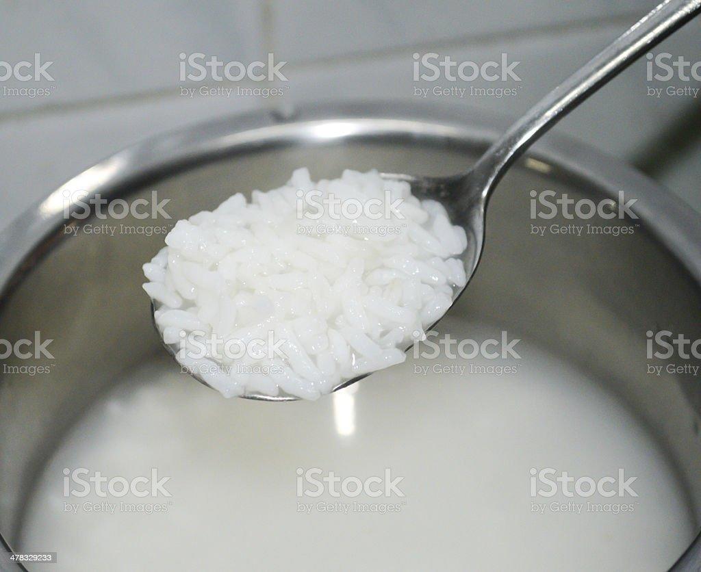 Delicious porridge stock photo