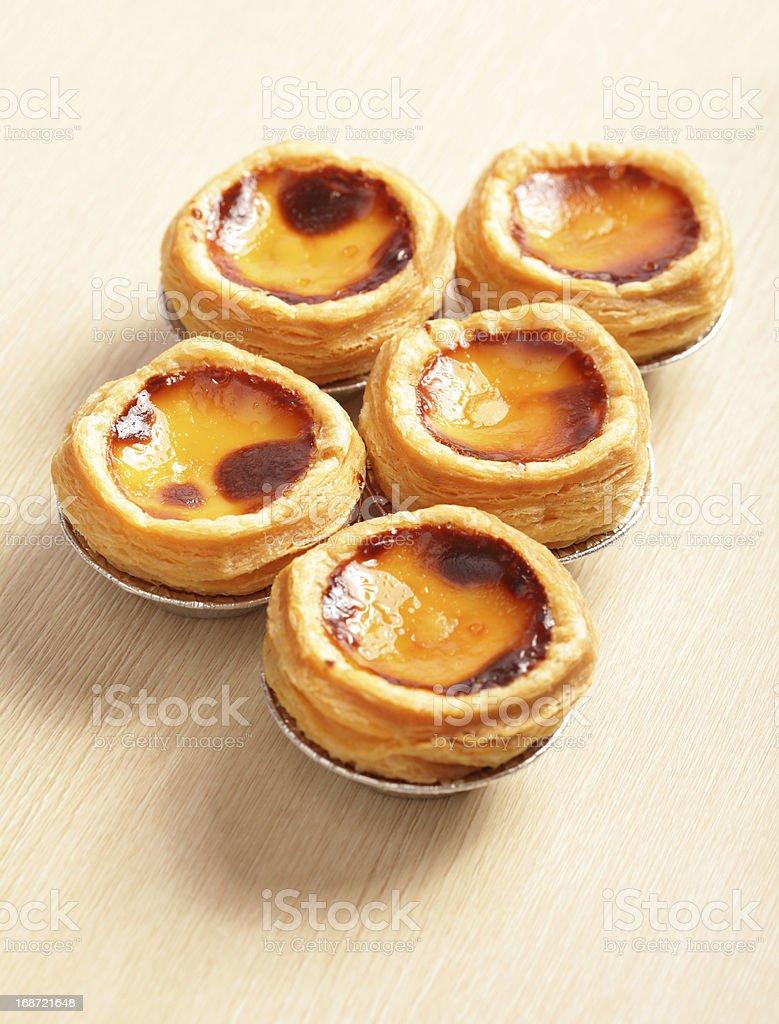 delicious portuguese egg tart royalty-free stock photo