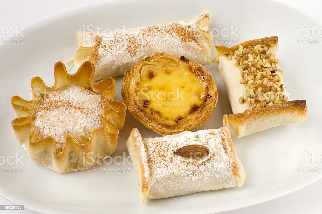 delicious portuguese sweets royalty-free stock photo