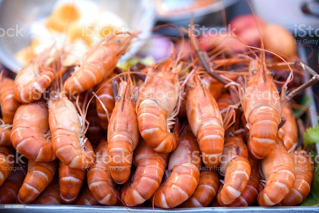 Délicieux aux crevettes spit photo libre de droits