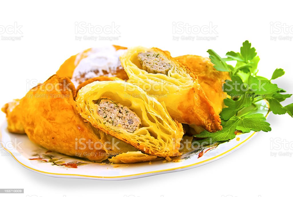 delicious puff with meat royalty-free stock photo