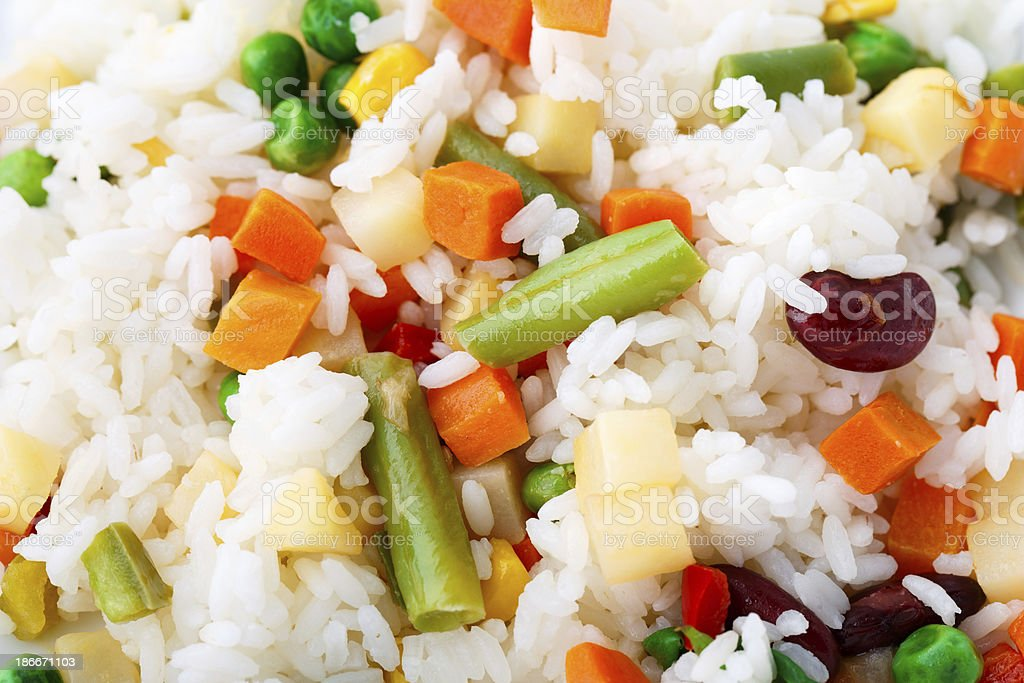 Delicious rice with vegetables royalty-free stock photo